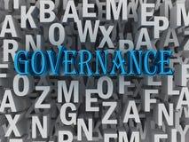 3d Governance concept word cloud concept.  Stock Photos