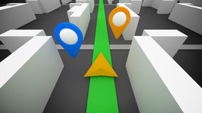 3d gps navigation Stock Photo