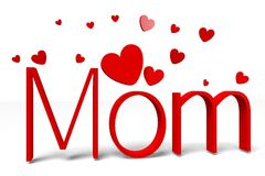 3D gráficos, corações, o dia da mamã… Foto de Stock Royalty Free