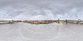 3d 360 grad panorama med folk Royaltyfria Foton