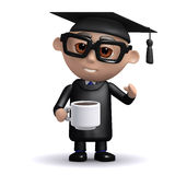 3d Graduate coffee break Stock Photos