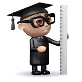 3d Graduate measures with a ruler Stock Image