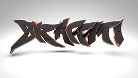 3D graffiti black Stock Photos