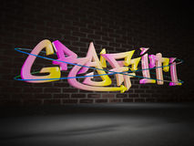 3d graffiti. In urban city setting Stock Image
