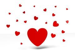 3D grafiek, de Dag van Valentine, 14 Februari, harten, Gelukkige Valentijnskaarten! … Stock Afbeeldingen