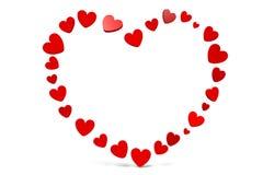 3D grafiek, de Dag van Valentine, 14 Februari, harten, Gelukkige Valentijnskaarten! … Stock Foto