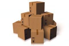 3D grafiek, leveringspakket, dozen, vervoer, op tijd, snel Stock Fotografie