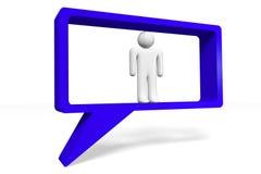3D grafiek, mededeling, toespraakbel, beeldverhaalkarakters Stock Fotografie
