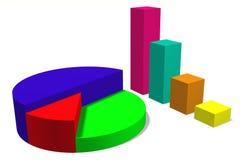3D grafiek, metaforen, diagram, grafieken Royalty-vrije Stock Afbeelding