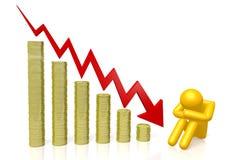 3d Grafiek van de Crisis Royalty-vrije Stock Afbeelding