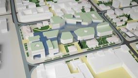 3D grafiek van het stedelijke milieu kwart Stock Foto's