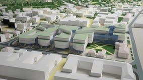 3D grafiek van het stedelijke milieu kwart Stock Afbeeldingen