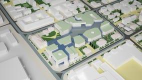 3D grafiek van het stedelijke milieu kwart Stock Fotografie