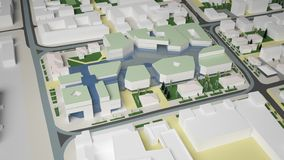 3D grafika miastowy środowisko ćwiartka Zdjęcia Stock