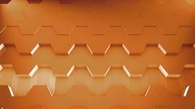 3D Grafische Achtergrond van de Lijn Hexagonale Motie stock videobeelden
