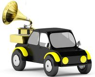 3D gramophone in a black ca Royalty Free Stock Images
