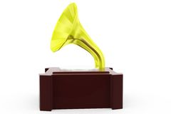 3d gramophone concept Stock Image