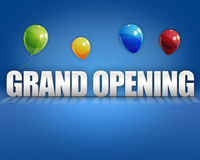 3d Grand Opening Balloons Background Royalty Free Stock Image