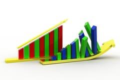 3d graph- arrow Royalty Free Stock Image