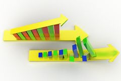 3d graph- arrow Royalty Free Stock Images