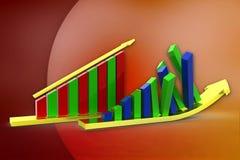3d graph- arrow Stock Photo