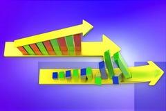 3d graph- arrow Royalty Free Stock Photo