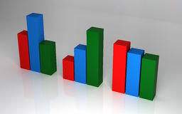 3D Graph, Concept Design. 3D Rendering of Graph, Concept Design Stock Photo
