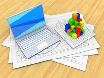 3d graph Stock Images