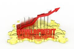 3d graph development Royalty Free Stock Photography