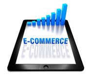 3d graph and e-commerce on digital tablet. 3d graph and e-commerce concept on digital tablet Stock Photos