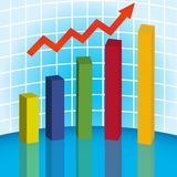 3D graph. 10 eps Stock Images