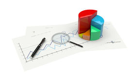 3d graph financial analysis Stock Images