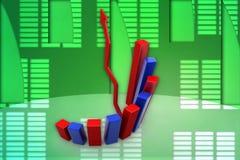 3d graph illustration Stock Photos