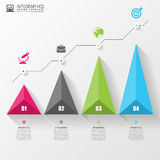 3D graph for infographic. Modern design template. Vector. Illustration Stock Images