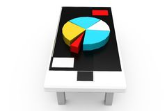 3d graph in meeting concept Stock Images