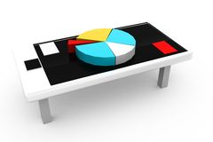 3d graph in meeting concept Royalty Free Stock Images