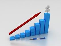 3D Graph Stock Image