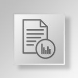 3D Graph Reports icon Business Concept Stock Photos