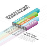 3D Graphic Bar Color Infographic Elements Royalty Free Stock Images
