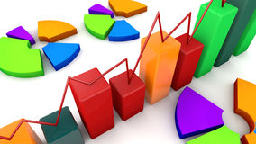 3d graphic chart Stock Images
