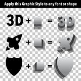 3d Graphic Styles Stock Image