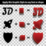 3d Graphic Styles Royalty Free Stock Photo