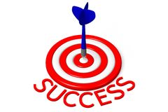 3D graphic, target, darts, metaphors - success... Stock Photography