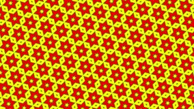 2D graphic video pattern that moves to the lower right with zoom, composed of designs and shapes with multicolored textures.
