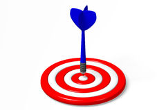 3D graphics, darts, metaphors - goal... Dart arrow aiming in dartboard Stock Photo