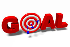 3D graphics, darts, metaphors - goal... Royalty Free Stock Photos
