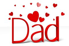 3D graphics, hearts, Dad's Day... Stock Image