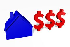 3D graphics, metaphors, housing issues, mortgage, dollar sign... Stock Photo