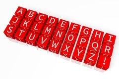 3D graphics, scrabble, metaphors - alphabet Royalty Free Stock Images
