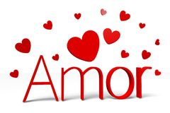 3D graphics, Valentine's Day, 14th February, hearts, Amor (greek) Royalty Free Stock Image